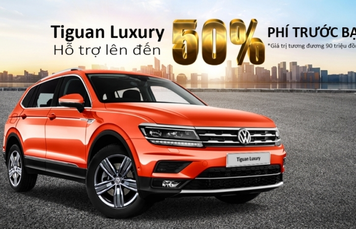 Volkswagen Việt Nam hỗ trợ 90 triệu đồng phí trước bạ với Tiguan Allspace