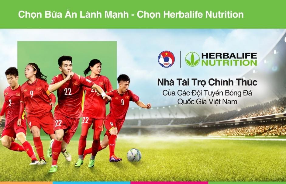 Herbalife Việt Nam trở thành Nhà Tài trợ chính thức của đội tuyển Bóng đá Việt Nam