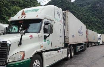 Chỉ tồn hơn 700 xe hàng tại cửa khẩu giáp biên giới Trung Quốc, Lào