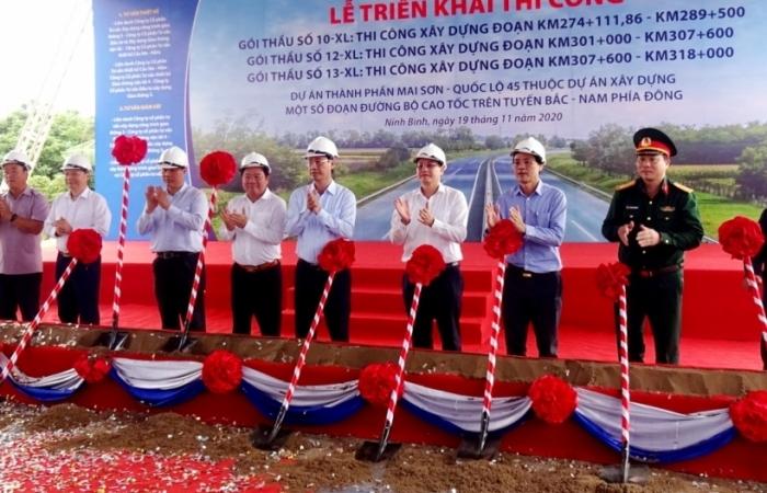 Khởi công thêm 3 gói thầu thuộc dự án cao tốc Bắc – Nam