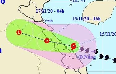 Bão đi vào Quảng Bình, Hà Tĩnh và suy yếu thành áp thấp nhiệt đới