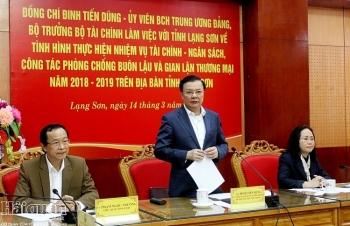 Bộ trưởng Bộ Tài chính làm việc với Lạng Sơn về thực hiện nhiệm vụ tài chính - ngân sách