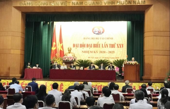 Khai mạc trọng thể Đại hội đại biểu Đảng bộ Bộ Tài chính lần thứ XXV