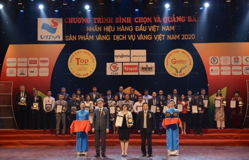 """Vedan Việt Nam lần thứ 5 liên tiếp đạt chứng nhận """"Top 10 Sản phẩm Vàng Việt Nam"""" năm 2020"""